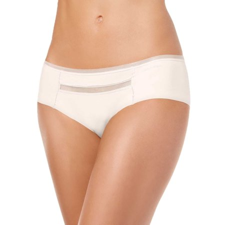 Calvin Klein Invisibles Mesh-Trim Hipster Panties – Natural, Large