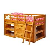 Woodcrest Heartland Twin-sized Mini Loft Bed with Ladder