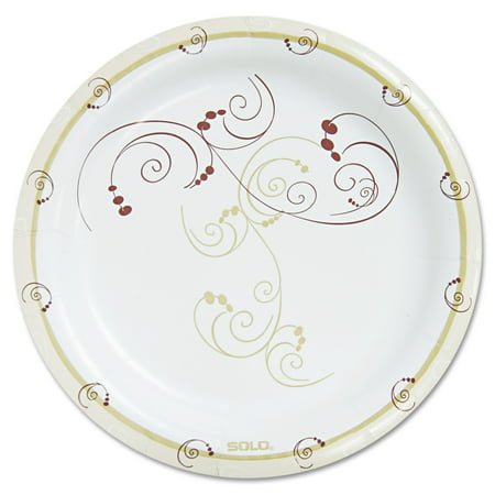 SOLO Cup Company Symphony Paper Dinnerware, Heavyweight Plate, 9