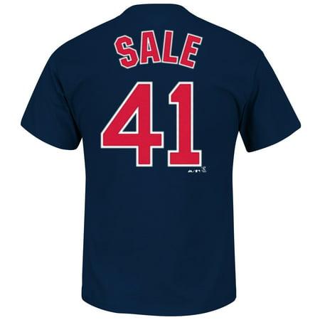 Chris Sale Boston Red Sox MLB Majestic Player Men T (Majestic Mlb Custom Player)