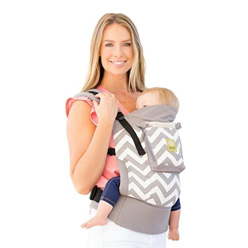 LÍLLÉbaby 4 in 1 ESSENTIALS Baby Carrier - Grey Chevron