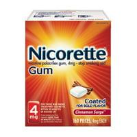 Nicorette Nicotine Gum to Stop Smoking, 4mg, Cinnamon Surge, 160 count