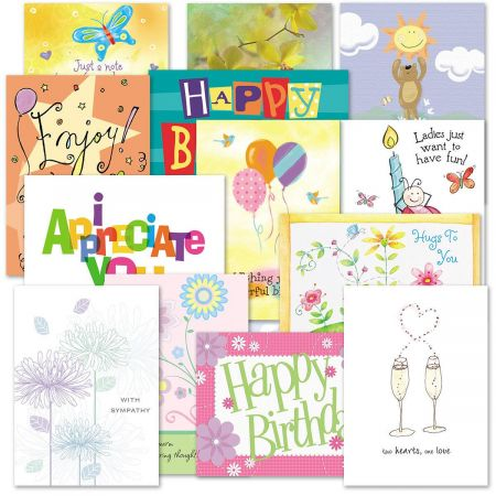 "Mega All Occasion Greeting Cards Value Pack - Set of 40 (20 designs), Large 5"" x 7"", Birthday, Friendship, and Sympathy Cards with Sentiments Inside - some contain Scripture, White Envelopes"