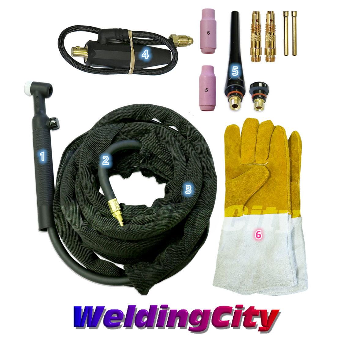 WeldingCity® TIG Welding Torch Body WP-17F Flex-Head Air-Cool 150AUS Seller