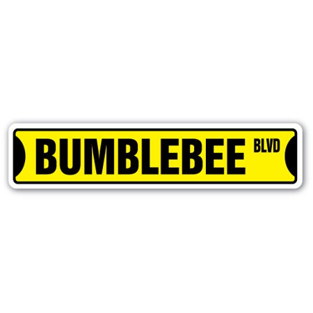 BUMBLE BEE Street Sign honey insect pollen pollination lover | Indoor/Outdoor |  24