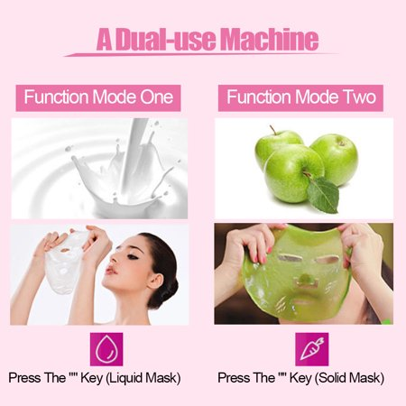 Zaqw Vegetable Mask Machine,Portable DIY Natural Fruit Vegetable Face Mask Maker + 50Pcs Collagen + 1Pc Facial Mask Model, Facial Mask Maker