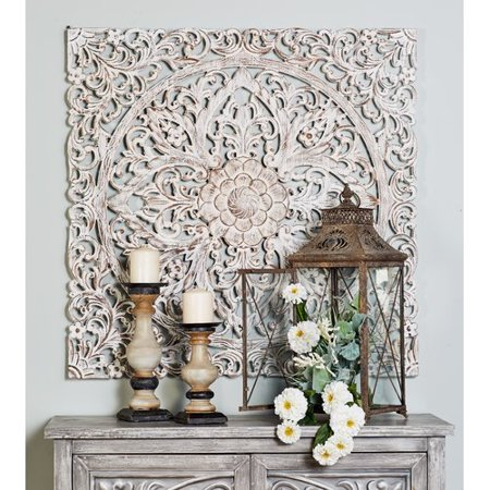 Bungalow Rose Traditional Carved Floral Medallion Wall Decor ...