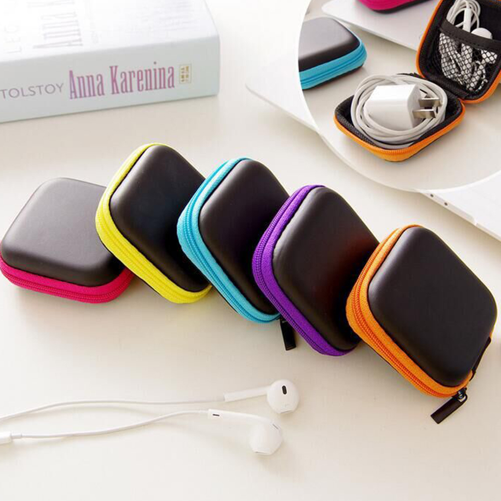Headphones Travel Organizer Bags Earphone Cable Earbuds Storage Bag Hard Organizador Case Carrying Pouch Bag Card Hold Box
