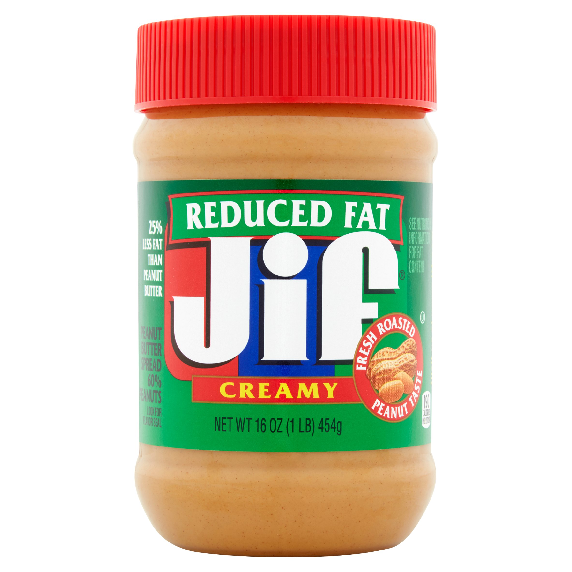 Jif Reduced Fat Creamy Peanut Butter Spread, 16 oz