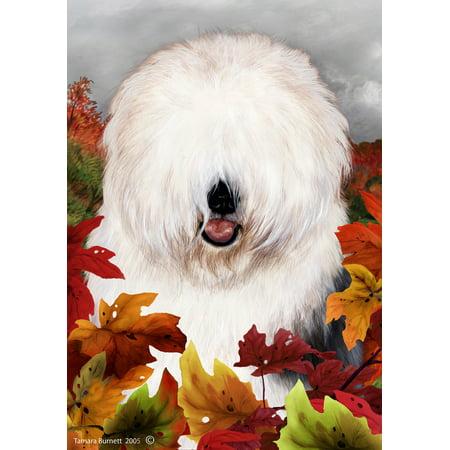 Old English Sheepdog - Best of Breed Fall Leaves Garden (Nexus Whelpling Best Breed)
