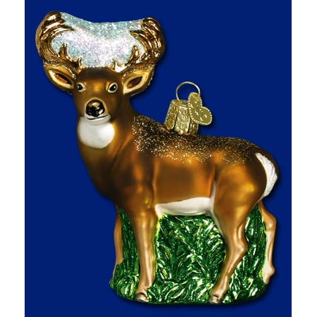 Whitetail Deer Old World Christmas Glass Ornament 12162 Decoration Buck FREE BOX