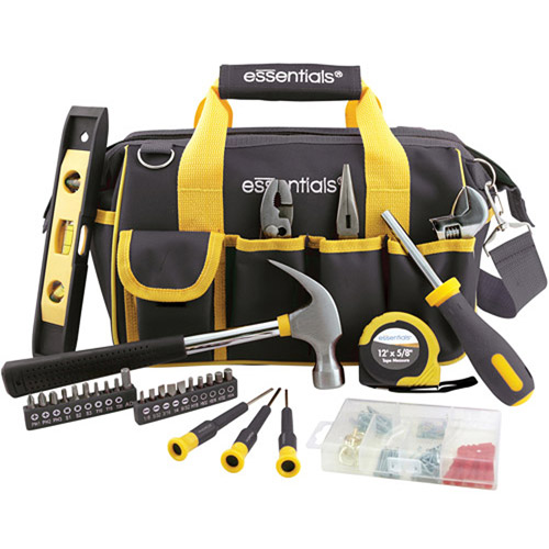 Essentials 32-Piece Tool Set, Black