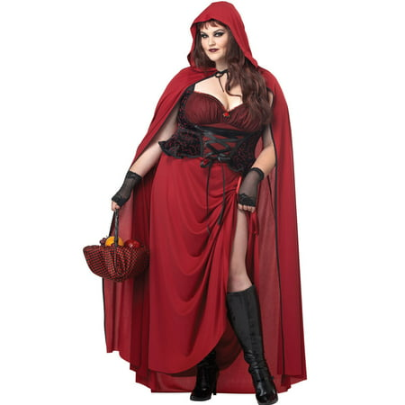 Diy Halloween Costumes Red Riding Hood (Dark Red Riding Hood Plus Size)