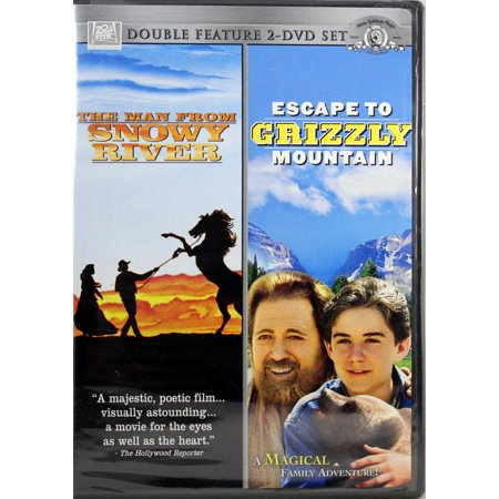 The Man From Snowy River & Escape To Grizzly Mnt NEW 2 DVD SET Double