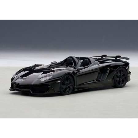 Lamborghini Aventador Roadster J Black 1/43 Diecast Model Car by Autoart 18 Autoart Diecast Model