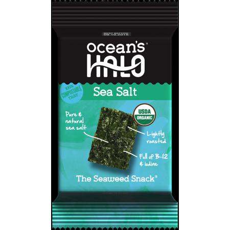 Ocean's Halo Seaweed Sea Salt Snack Cracker, Chip 0.14 oz