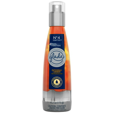 (2 pack) Glade Atmosphere Fine Fragrance Mist Air Freshener No. 4 Tempted: Patchouli & Amber, 6.2 Ounces.
