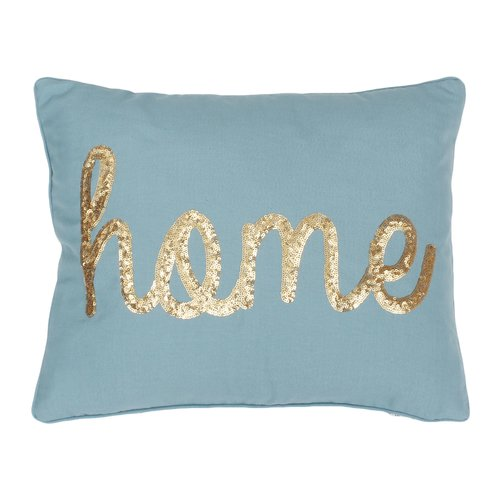 Ivy Bronx Altieri Home Sequin Script Linen Throw Pillow by