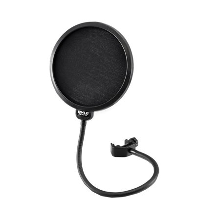 Studio Microphone Pop Filter 4-Layer Mesh Screen, Wind Screen Filtration, 360? Flexible Gooseneck