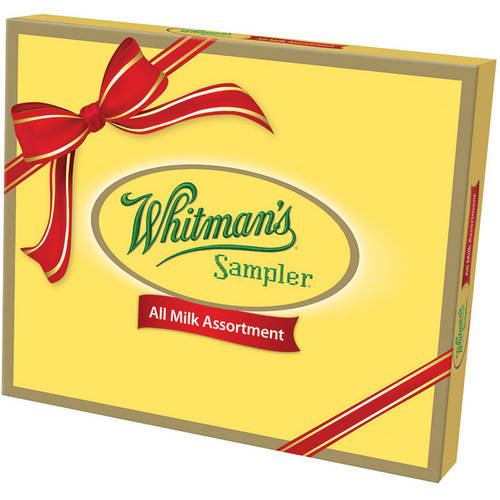 Whitman's Sampler All Milk Chocolate Assortment Holiday Gift, 10 oz