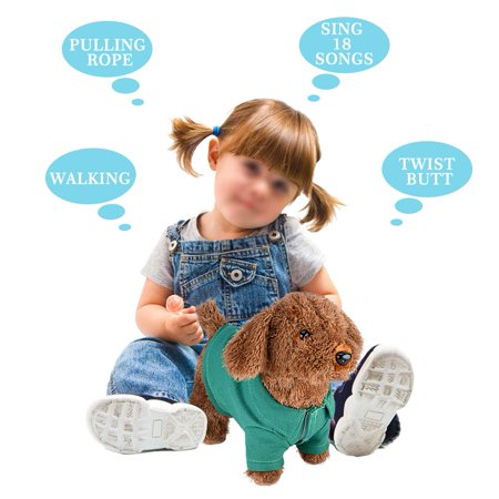 Musical Dog (Tbest Funny Electronic Plush Toys Musical Singing Walking Electric Toy Dog Pet Kids Child Gift Green,Funny Electronic Plush Toys)