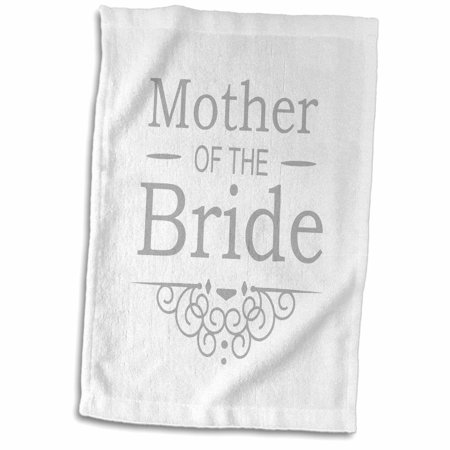 3dRose Mother of the Bride in silver - Wedding - part of matching marriage party set - grey gray swirls - Towel, 15 by 22-inch](Silver Daddies In Suits)