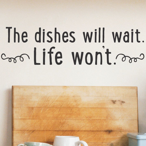 Belvedere Designs LLC Dishes Will Wait Quotes Wall Decal (Set of 101)
