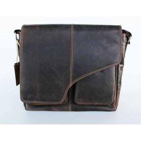Adam Burke Leather Crossbody Pouch Messenger Travel Bag 18AB0205