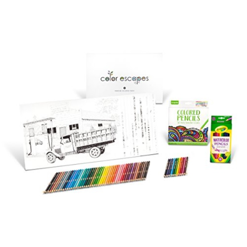 Crayola Color Escapes Coloring Pages Pencil Kit Americana Edition