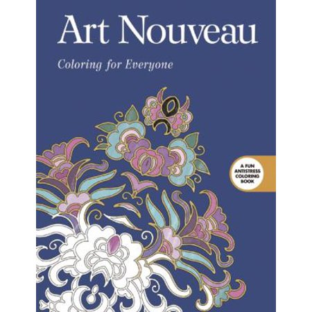 art nouveau adult coloring book coloring for everyone - Walmart Coloring Books