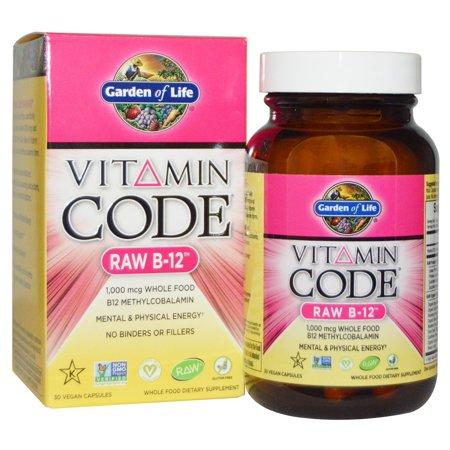 Garden of Life, Vitamin Code, Raw B-12, 30 Vegan Caps ()