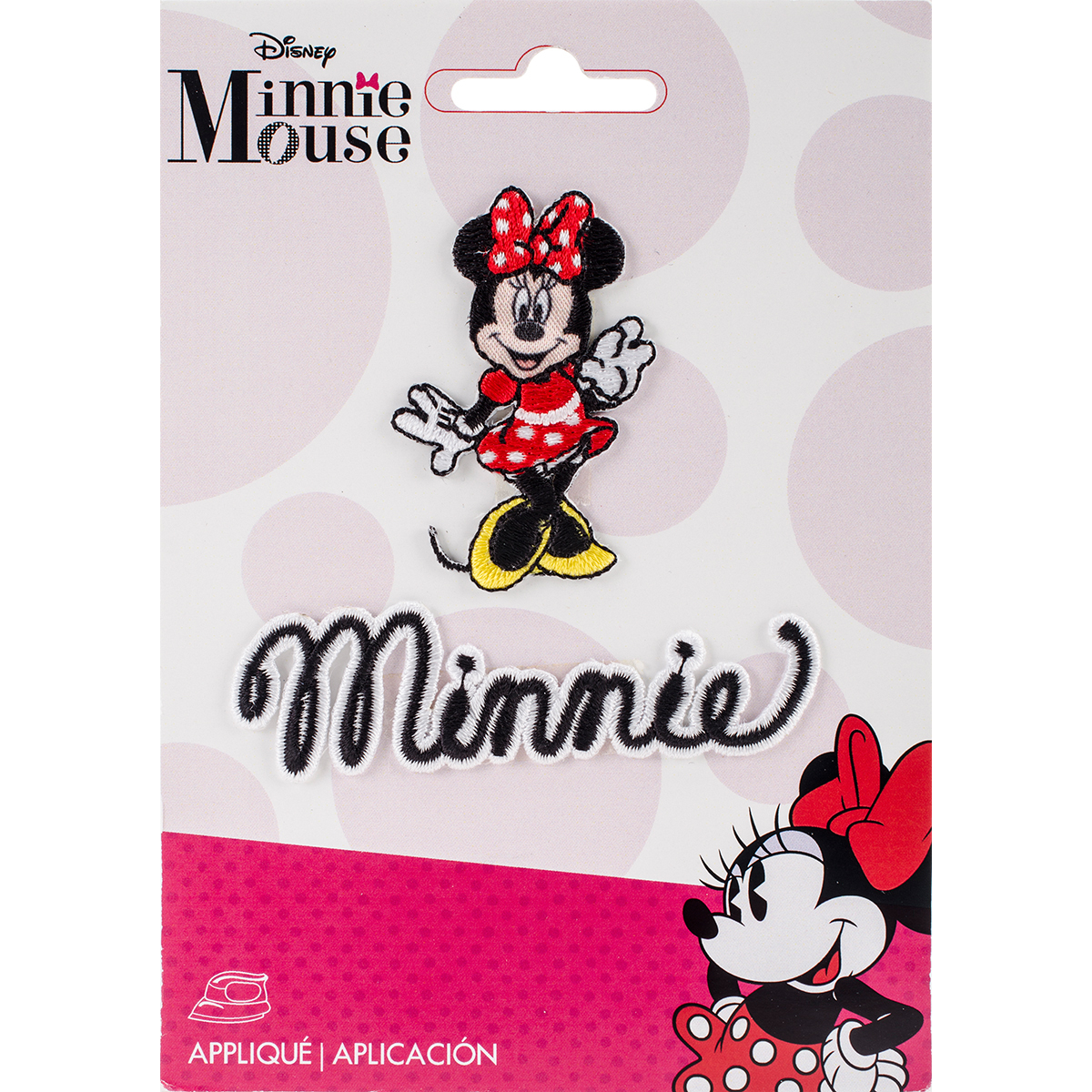 Disney Mickey Mouse Iron-On Applique, Minnie Mouse Body with Script
