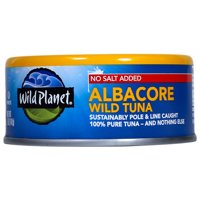 Wild Planet Wild Albacore Tuna No Salt, 5 oz Can