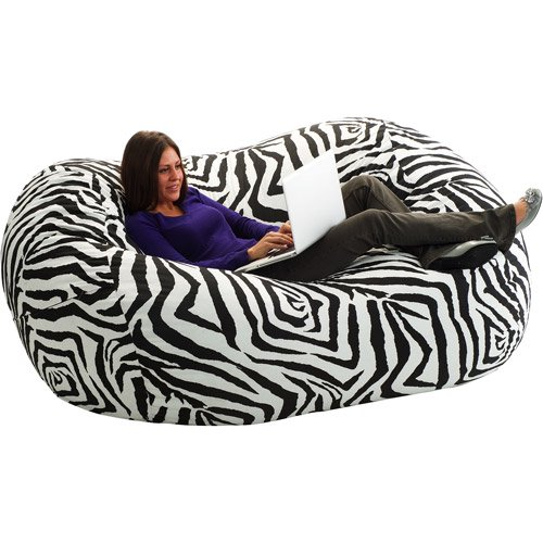 Extra Large 6 Fuf Bean Bag Chair Zebra