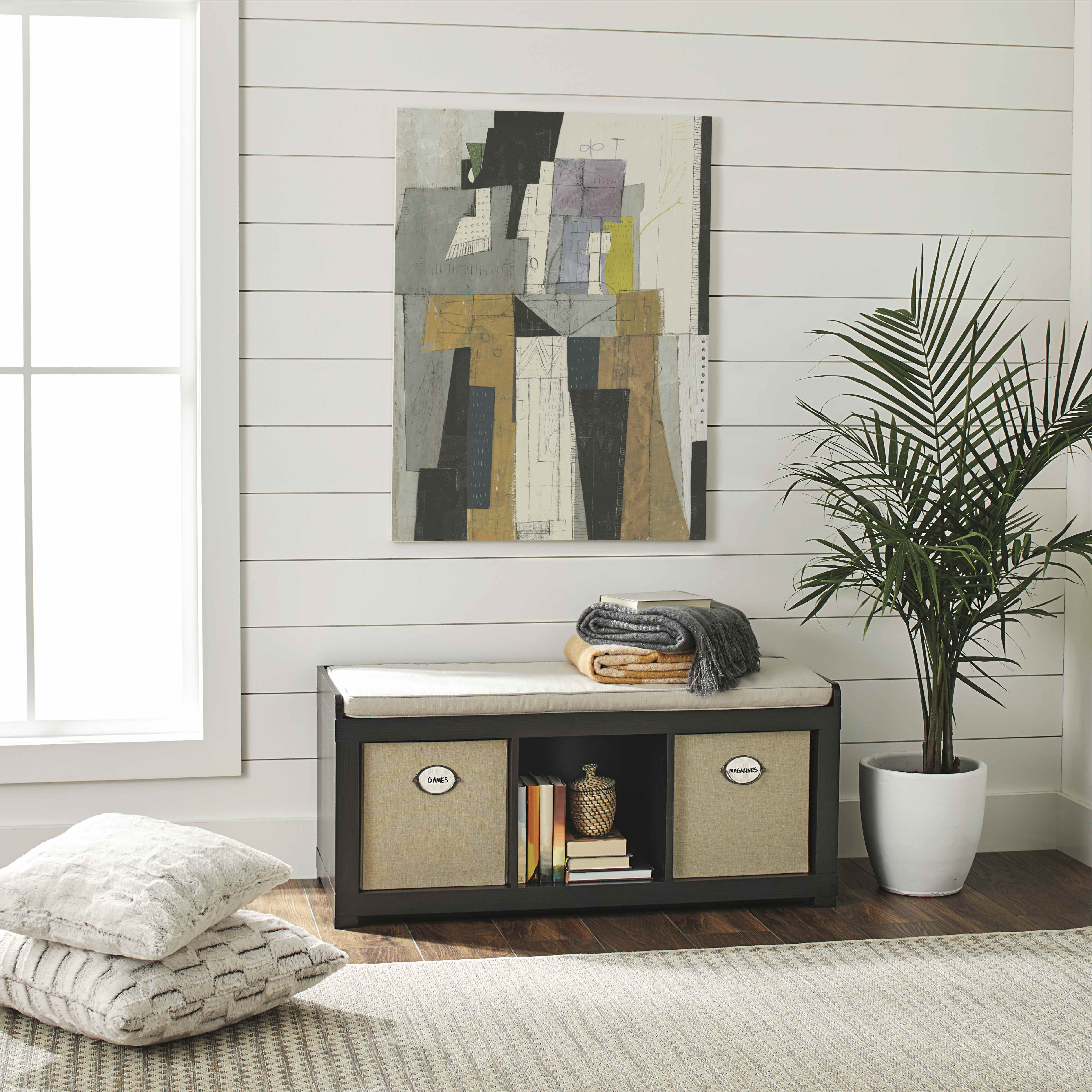 Better Homes and Gardens 3-Cube Organizer Bench