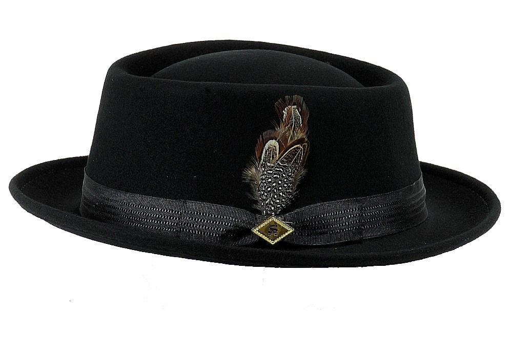 60cm By Neki Mens Adult Fabric Pork Pie Hat with Black Hat Band UK Seller 56cm