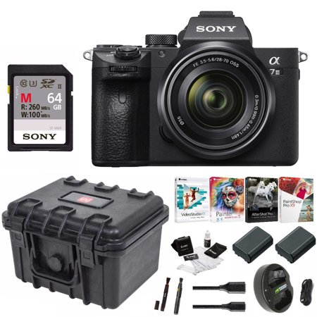 Sony a7 III Full Frame Mirrorless Camera with 28-70mm Lens Essentials (Best Sony Full Frame Lenses)
