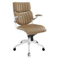 Modway Escape Mid Back Leatherette Office Chair, Multiple Colors