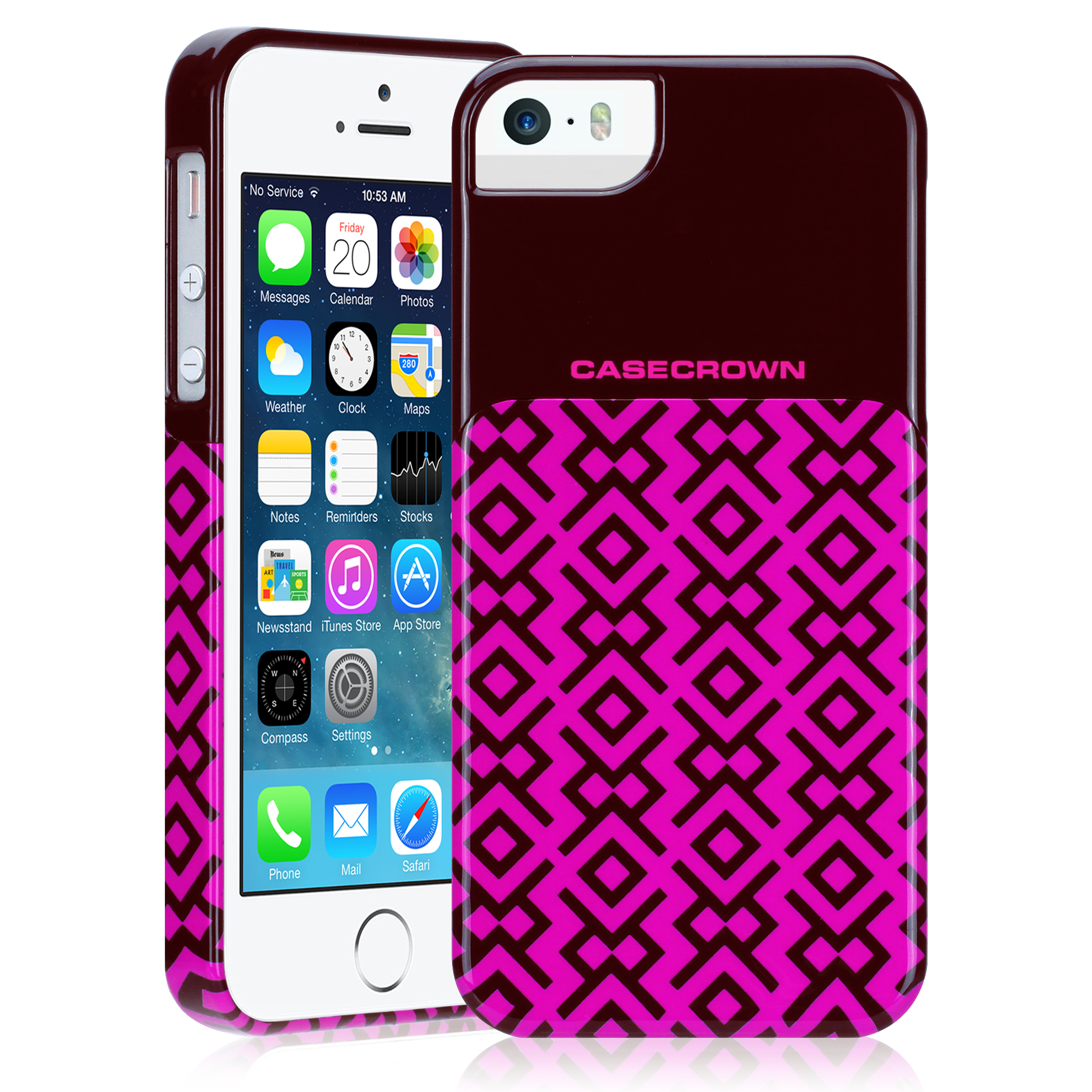 CaseCrown DecoBlock Case (Pink) for Apple iPhone 5