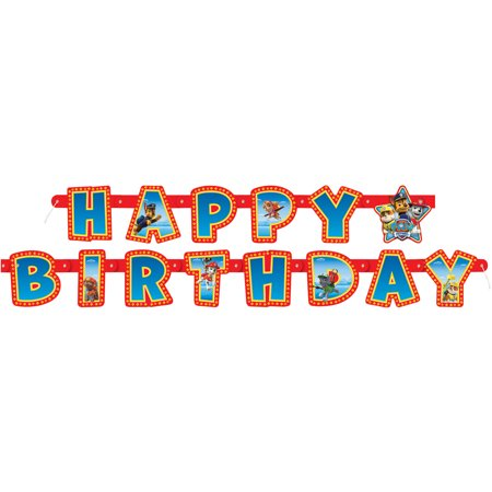 PAW Patrol Birthday Banner, 6.25 ft, 1ct