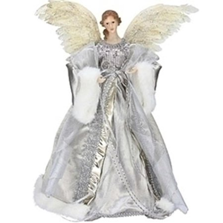 165 celebration silver and gold angel christmas tree topper 165 unlit - Angel Christmas Tree Topper