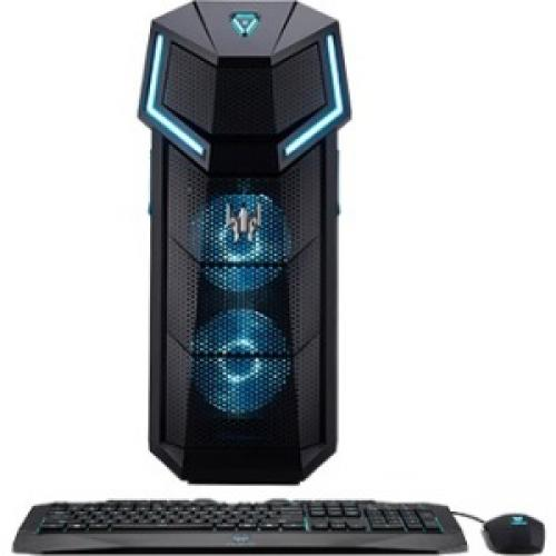 Acer Predator PO5-610 Desktop Computer - Intel Core i5 (8th Gen) i5-8600K 3.60 GHz - 16 GB DDR4 SDRAM - 256 GB SSD - Windows 10 Home 64-bit - DVD-Writer DVD±R/±RW - NVIDIA GeForce GT