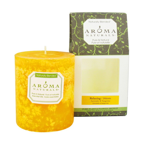 Aroma Naturals Naturally Blended Pillar Candle, Relaxing  - 1 Ea