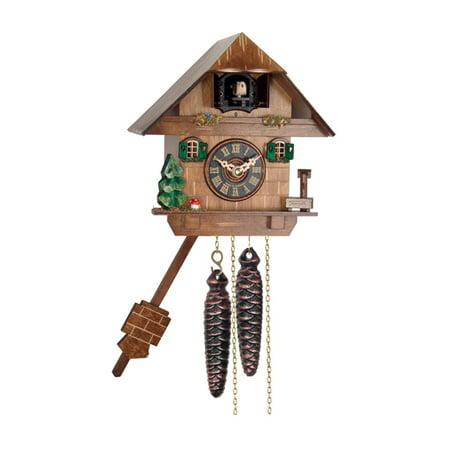 - River City Clocks 38-06 Tree, Mushroom and Water Pump Cottage Cuckoo Clock