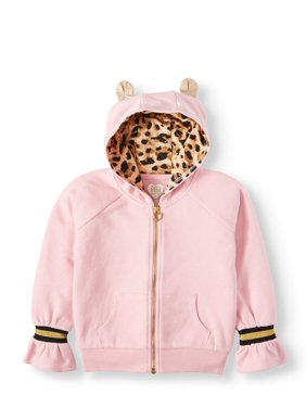 Cheetah Lined Hoodie with 3D Ears (Little Girls & Big Girls)