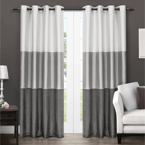 "Exclusive Home Chateau Striped Faux Silk Grommet Top Window Curtain Panels 54"" X 84\ by Exclusive Home"