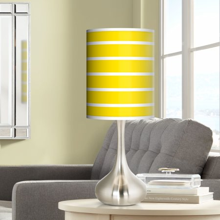 Giclee Glow Vivid Yellow Stripes Giclee Droplet Table