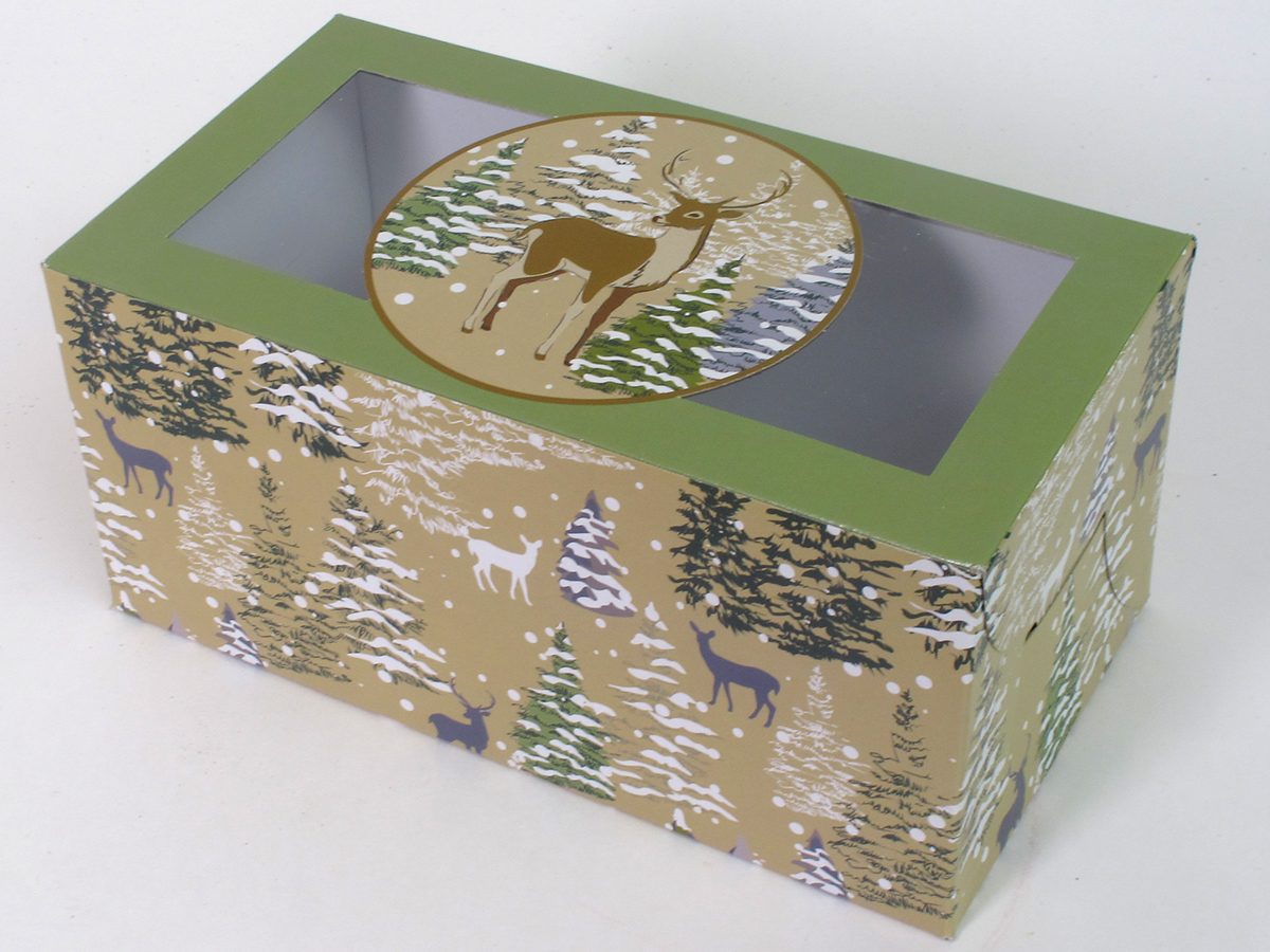 Holiday Dessert Loaf Boxes 8.5 x 4.5 12 Count