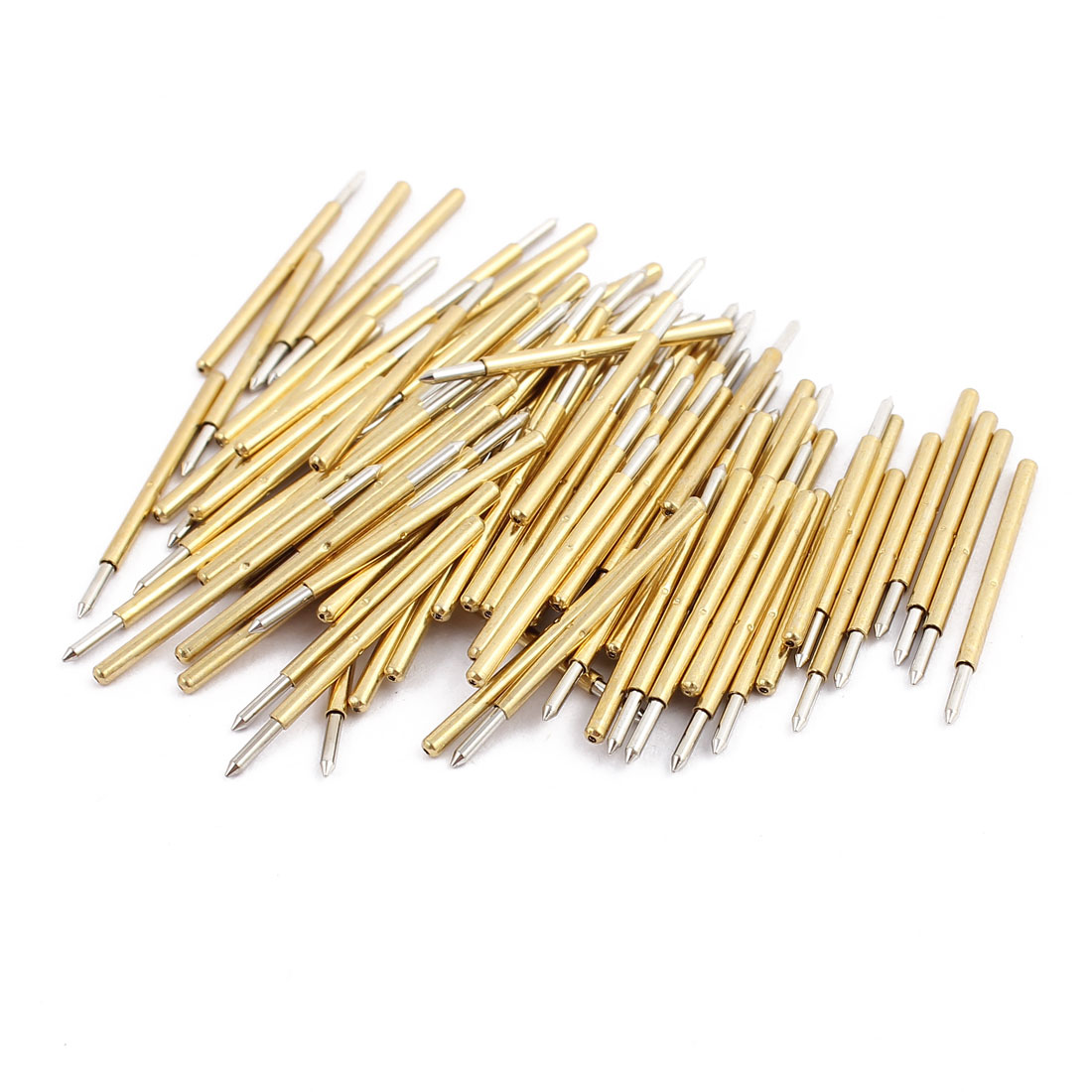 100pcs P160-B 1.36mm Dia 23.5mm Length Metal Spring Pressure Test Probe Needle
