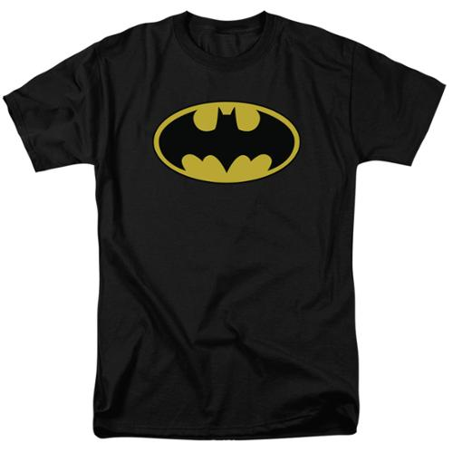 Batman Classic Logo Mens Short Sleeve Shirt BLACK 2X